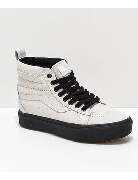 Vans Sk8 Hi Mte Moonbeam & Black Platform Shoes by Vans