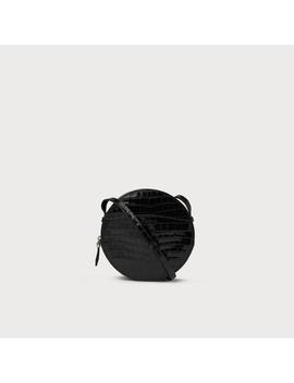 Luna Black Croc Effect Shoulder Bag by L.K.Bennett