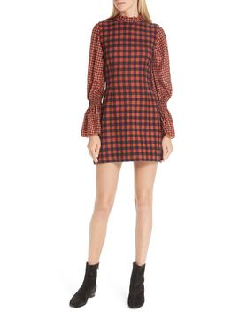 Ethno Pop Checkered Combo Dress by Sea