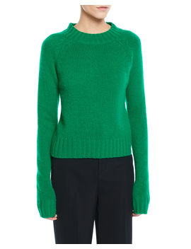 Shrunken Mock Neck Cashmere Sweater by Vince