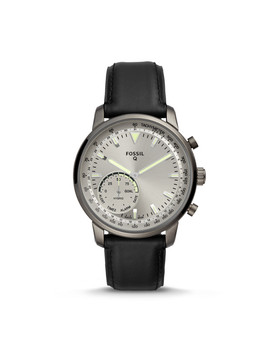 Hybrid Smartwatch   Q Goodwin Black Leather by Fossil