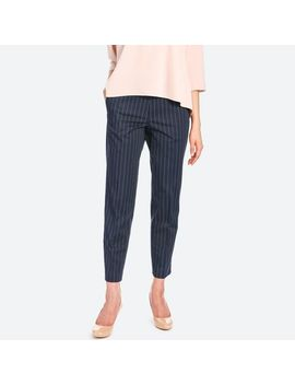 Women Satin Ankle Pants (Patterned) by Uniqlo