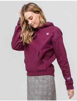 Champion Reverse Weave Burgundy Womens Hoodie by Champion