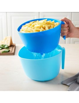 Tasty 2pc Colander Set   Colander And Bowl, Blue/Royal Blue by Tasty
