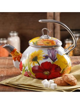 The Pioneer Woman Flower Garden Tea Kettle, 2.3 Qt by The Pioneer Woman