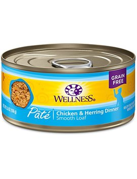 Wellness Complete Health Natural Grain Free Wet Canned Cat Food Pate Recipe Chicken & Herring Pate by Wellness Natural Pet Food