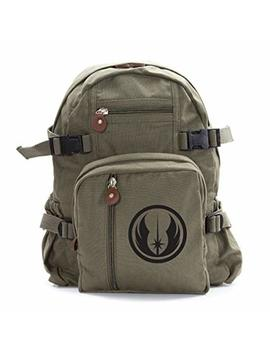 Jedi Order Logo Army Sport Heavyweight Canvas Backpack Bag by Grab A Smile