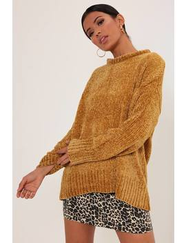 Mustard Oversized Chenille Jumper by I Saw It First