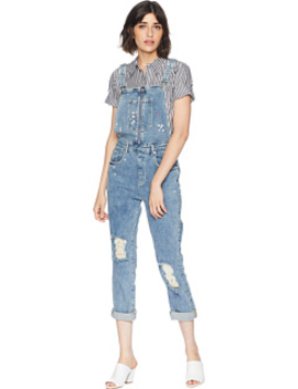 Floral Embroidered Denim Overall by Juicy Couture