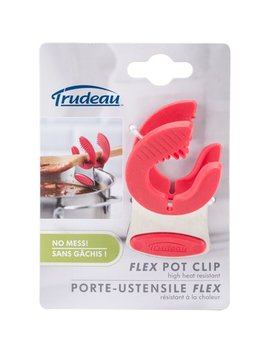 Trudeau Maison Stainless Steel Flex Pot Clip Red by Trudeau Maison
