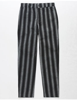 White Fawn Stripe Black & White Girls Crop Pants by White Fawn