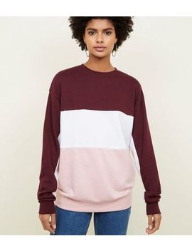 Tall Colour Block Jumper by New Look