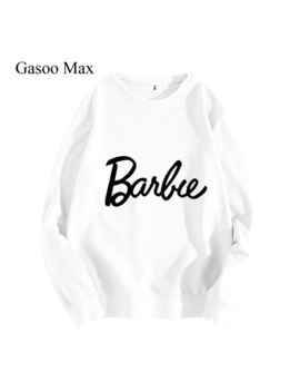 Kawaii Barbie Hoodie Women 2019 Winter Autumn Hot Women Hoodies Sweatshirts Cotton High Quality Harajuku Long Sleeve Pullovers by Gasoo Max