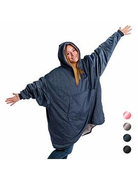 The Original Comfy: Warm, Soft, Cozy Sherpa Blanket Sweatshirt, Seen On Shark Tank, Invented By 2 Brothers, Multiple Colors, For Adults & Children, Reversible, Hood & Large Pocket, One Size by The Comfy