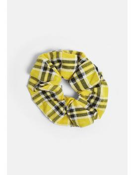 Yellow Checked Scrunchie by Missguided