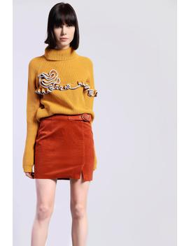 **Belted Corduroy Skirt By Glamorous by Topshop