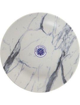 White Matte Marble Ceramic Plate 23cm by Matceramica