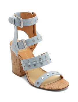 Women's Eddie Denim High Block Heel Gladiator Sandals by Dolce Vita