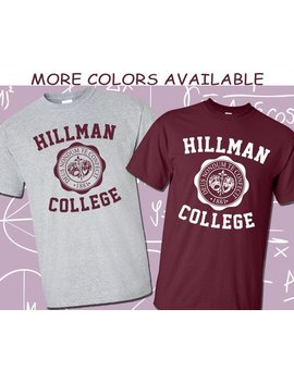 Hillman College 80's Retro T Shirt Different World Tv Show Cosplay T Shirt Tee Shirt   More Colors And Sizes Available by Etsy