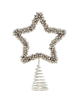 Silver Christmas Tree Topper 30x24cm by Jingles & Joy