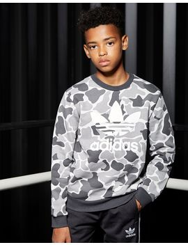Adidas Originals Trefoil Camo Crew Sweatshirt by Jd Sports