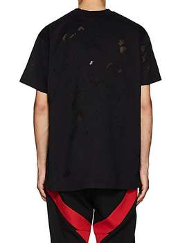 Logo Print Distressed Cotton T Shirt by Givenchy