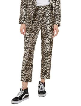 Leopard Suit Trousers by Topshop