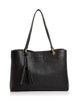 Mc Graw Medium Leather Shoulder Tote by Tory Burch