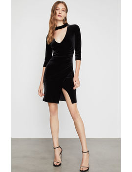 Velvet Choker Sheath Dress by Bcbgmaxazria