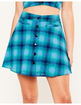 Button Front Mini Skirt by Glassons