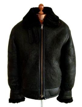 Vtg Mens Leather B 3 Sheepskin Shearling Flying Pilot Aviator Bomber Jacket Coat by Ebay Seller