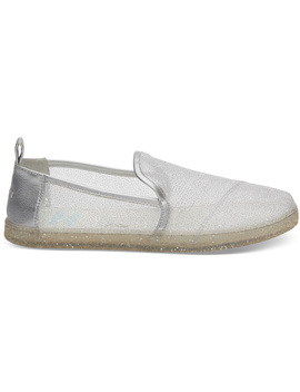 Disney X Toms Silver Cinderella Glitter Mesh Women's Deconstructed Alpargatas by Toms