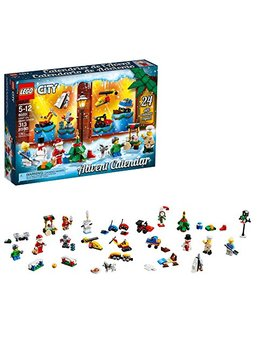 Lego City Advent Calendar 60201, New 2018 Edition, Minifigures, Small Building Toys, Christmas Countdown Calendar For Kids (313 Pieces) by Lego