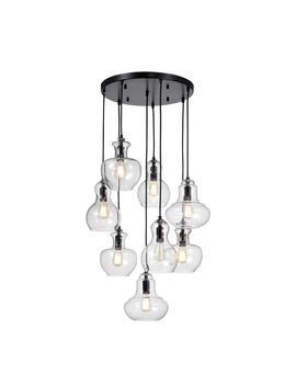 Beveen 8 Light Black Pendant by Warehouse Of Tiffany