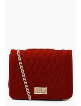 Suedette Quilted Cross Body by Boohoo
