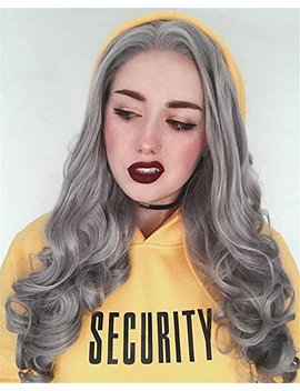 Heahair® Silver Body Wave Handtied Wigs Lace Front Synthetic Hair For Women Hs0011 by Heahair