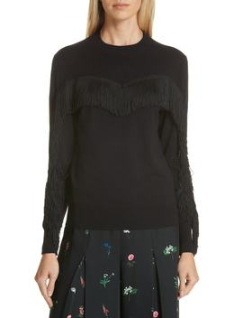 Aniebal Fringe Trim Sweater by Ted Baker London