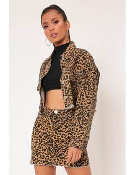 Leopard Print Denim Jacket by I Saw It First