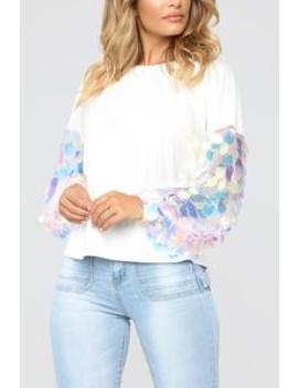 Candy Rain Sweatshirt   Ivory by Fashion Nova