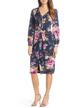 Floral Charmeuse Dress by Maggy London