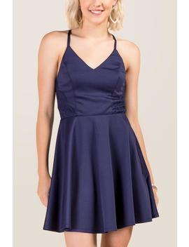 Journee Lace Back Skater Dress by Francesca's