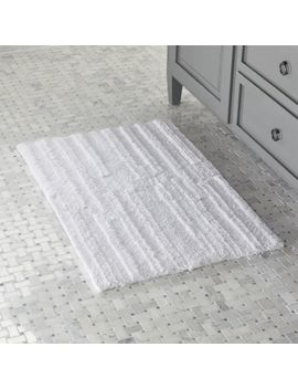 Crosley White Reversible Bath Rug 2'x5' by Crate&Barrel