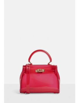 Red Transparent Mini Handbag by Missguided