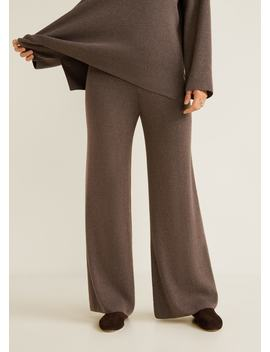 Ribbed Soft Trousers by Mango