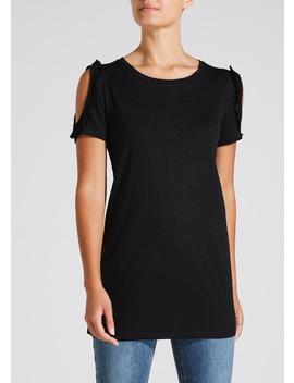 Ruffle Cold Shoulder Longline T Shirt by Matalan