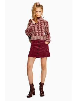 Corduroy Pocket Mini Skirt by Topshop