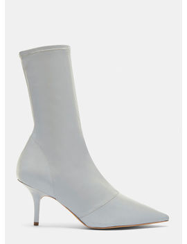 Chrome Reflective Ankle Boot 70mm Heel In Silver by Yeezy
