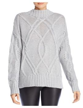 Brody Crisscross Cable Knit Sweater by John And Jenn