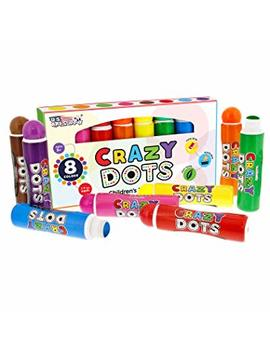 U.S. Art Supply 8 Color Crazy Dots Markers   Children's Washable Easy Grip Non Toxic Paint Marker Daubers by Us Art Supply