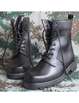 New Mens Military Block Heels Ankle Boots Punk Lace Up Pu Leather Shoes Size by Ebay Seller